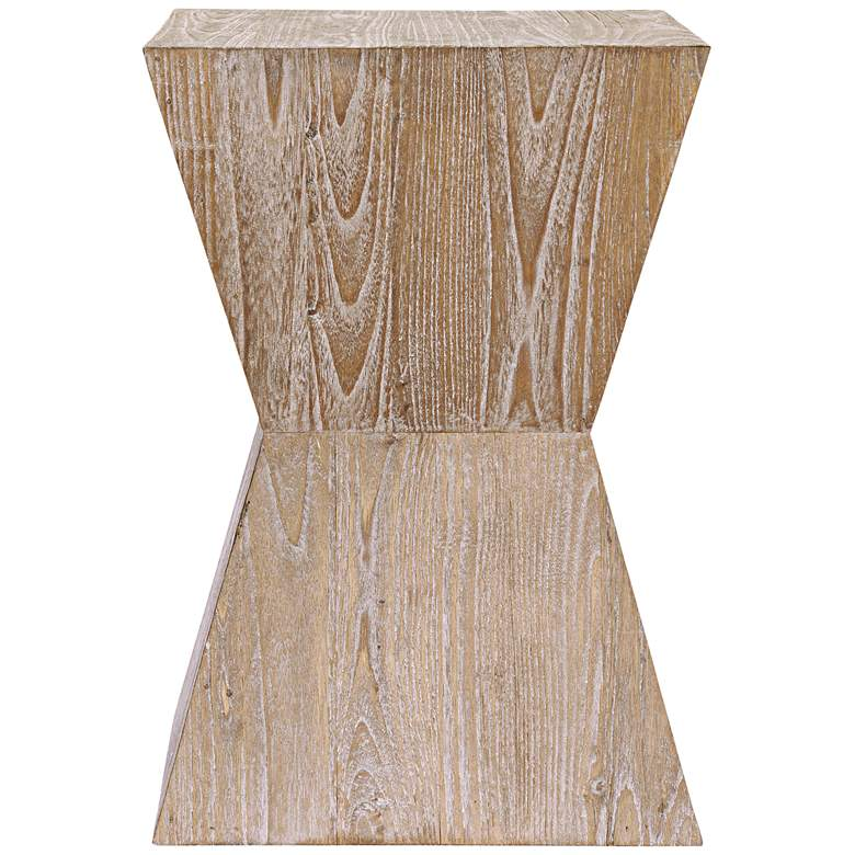 "Martil 14"" Wide Distressed Oak Wood Modern Side Table more views"