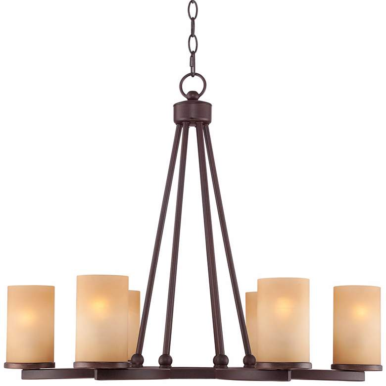 "Fairport 6-Light 28"" Wide Bronze Chandelier more views"