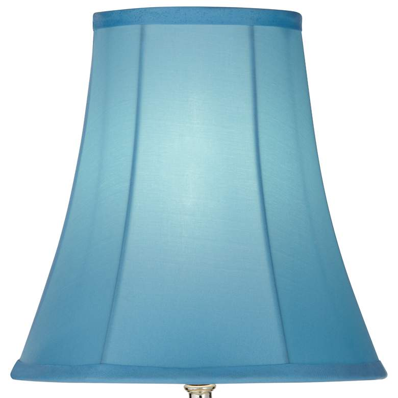 Bohemian Teal Blue Stacked Glass Table Lamp more views