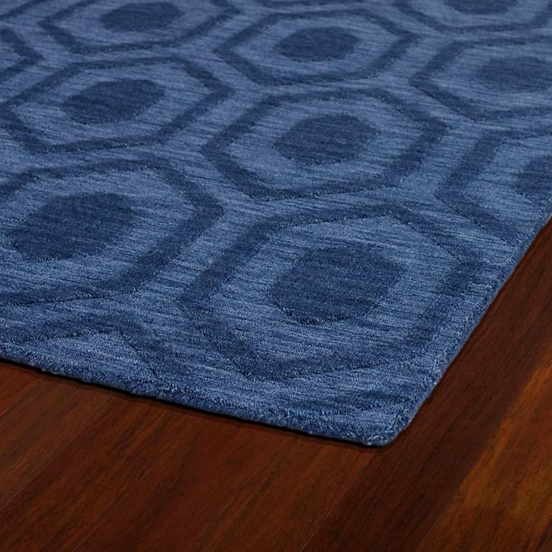 Kaleen Imprints Modern IPM01-17 Blue Hexagon 5'x8' Rug more views