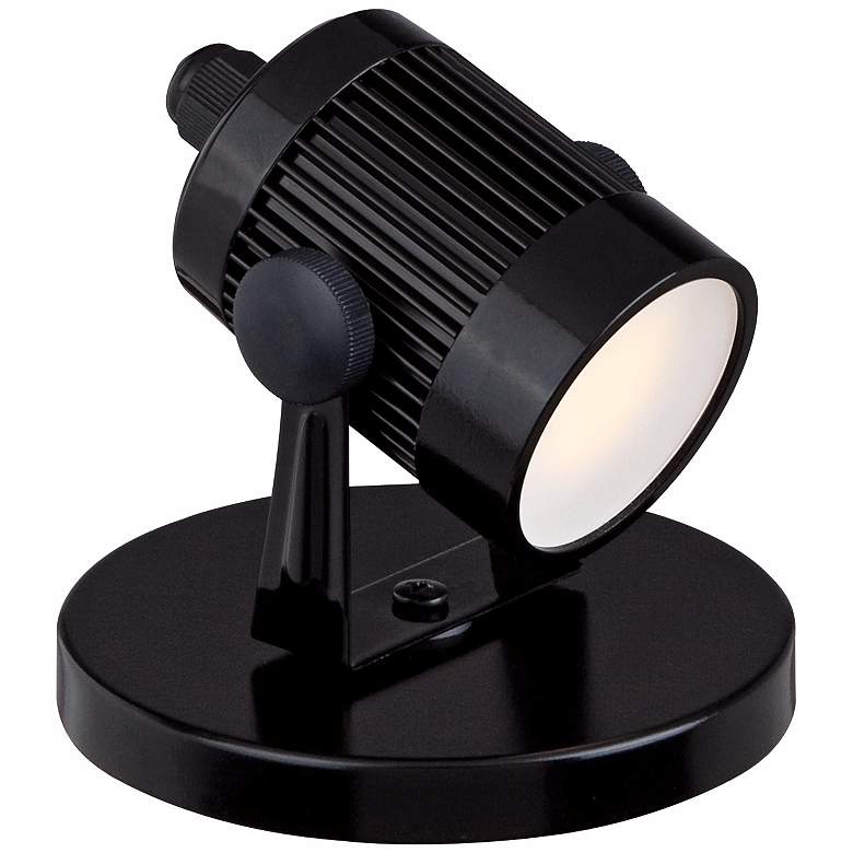 "Downey 2 3/4"" High LED Mini-Uplight in Black more views"