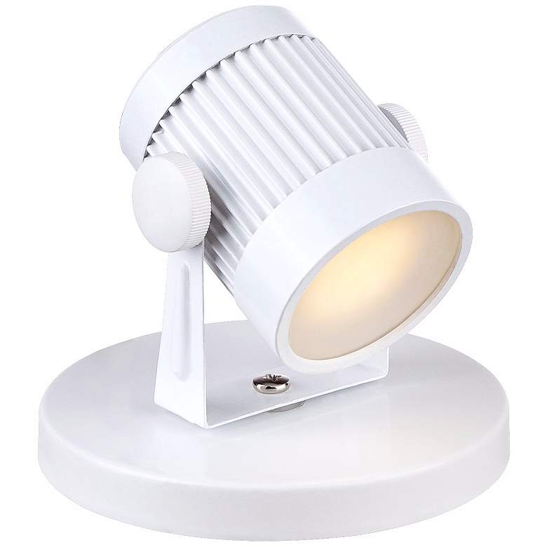 "Downey 2 3/4"" High White LED Mini-Uplight more views"