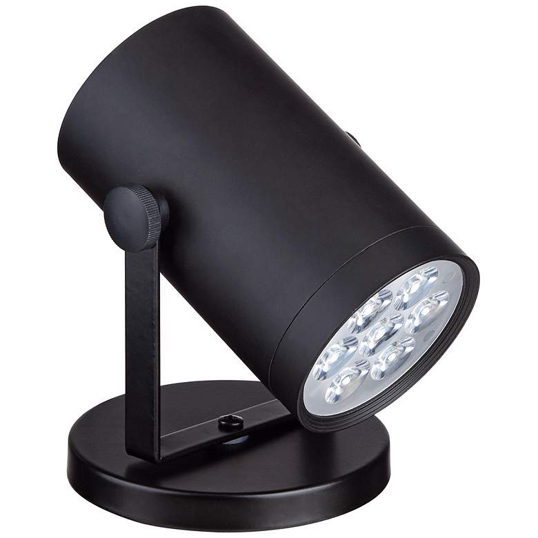 "Imperial Black 4 1/2"" High LED Uplight more views"