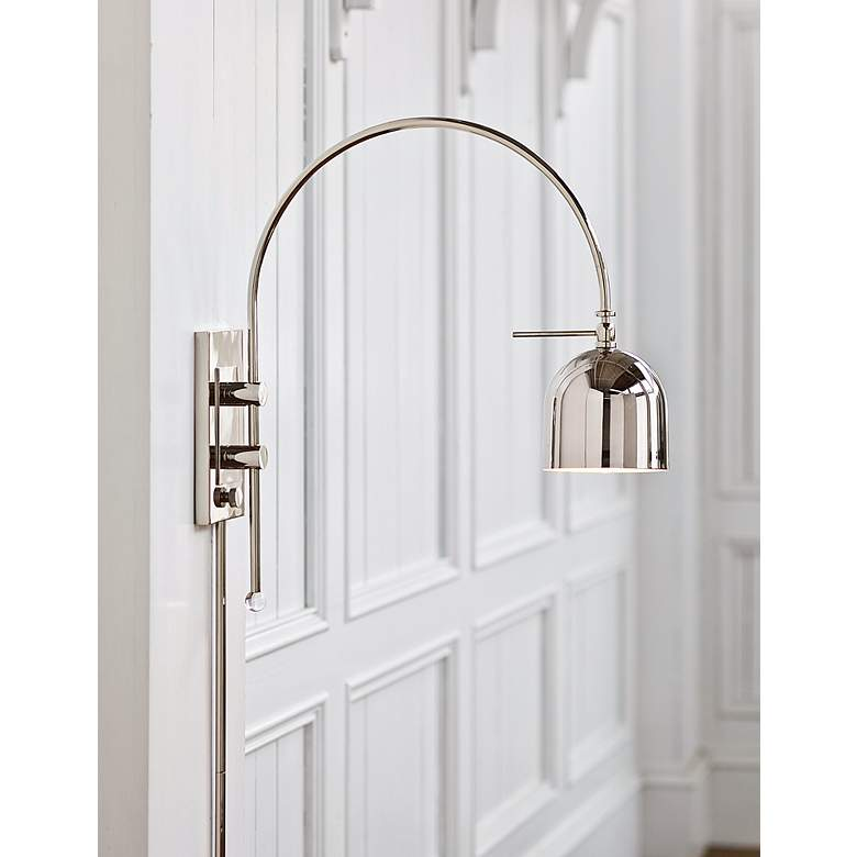 "Regina Andrew 21"" Modern Silver Arc Plug-In Wall Sconce more views"