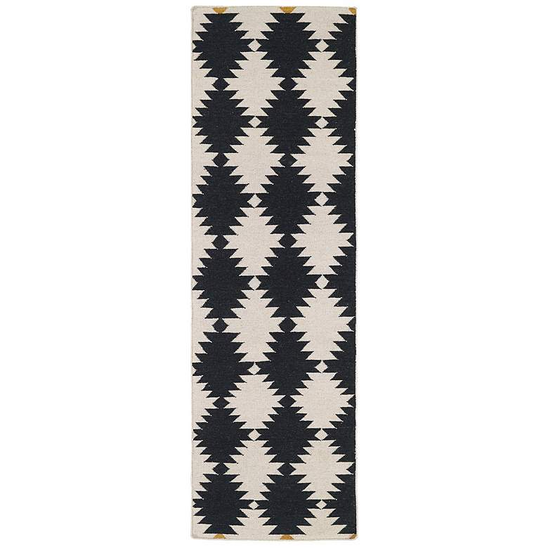 Kaleen Nomad NOM02-02 Black 5'x8' Wool Area Rug more views