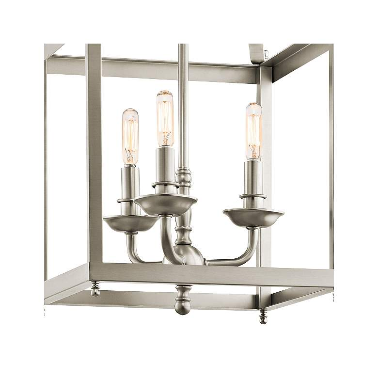 "Kichler Larkin 12"" Wide Brushed Nickel Pendant more views"