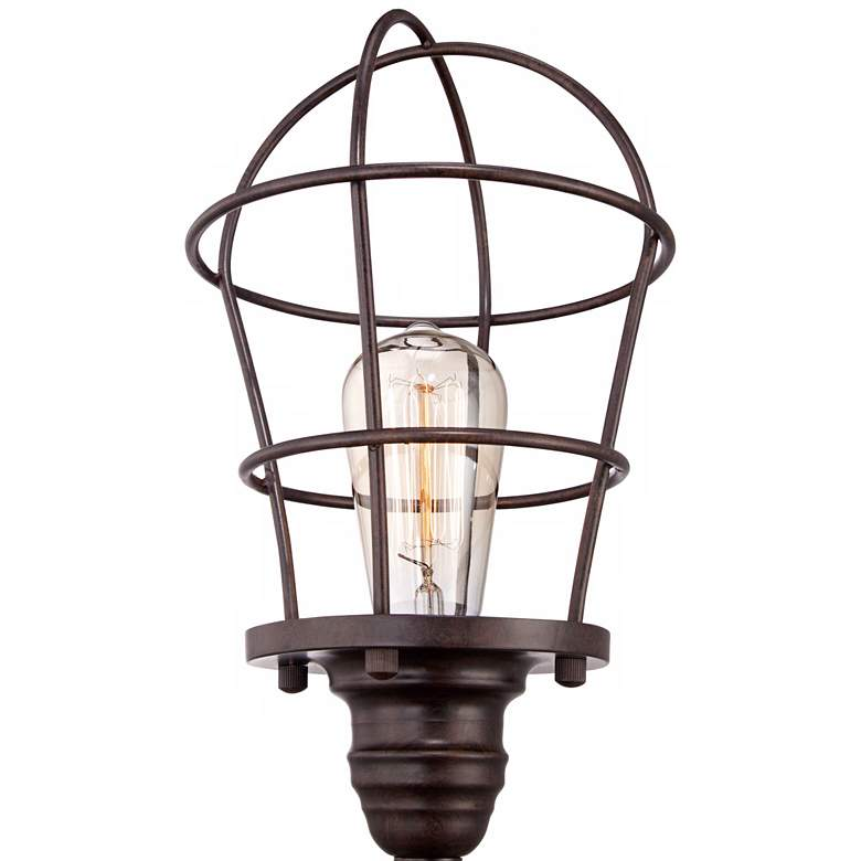 "Franklin Iron Works Industrial Wire Cage 17 1/4"" Accent Lamp more views"
