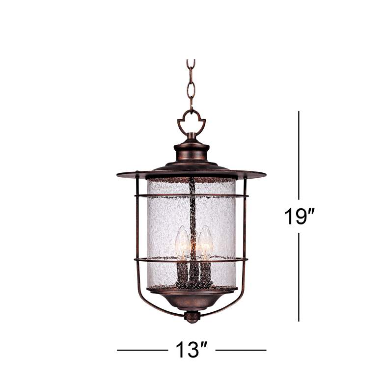"Casa Mirada 19"" High Bronze 3-Light Outdoor Hanging Light more views"