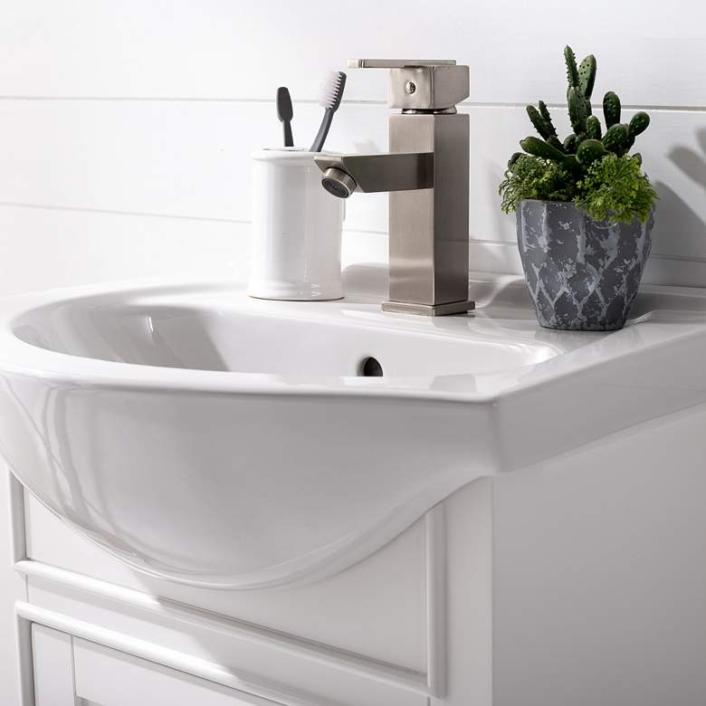 "Marian 20""W 1-Door White Porcelain-Top Single Sink Vanity more views"