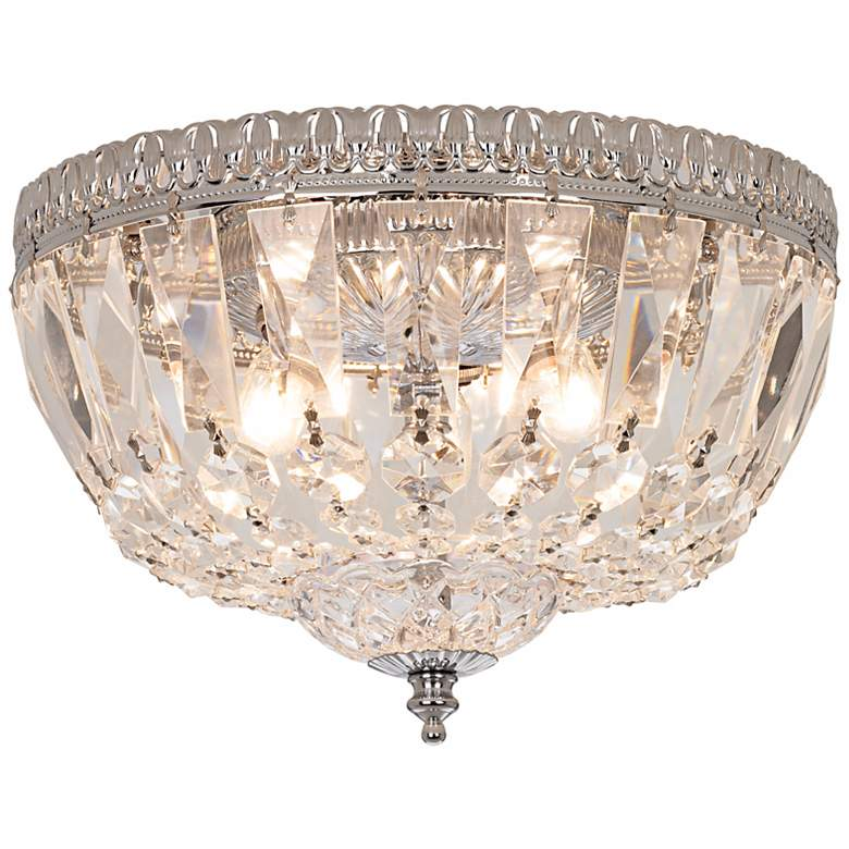 "James R. Moder 9""W Hand Cut Crystal Ceiling Fixture more views"