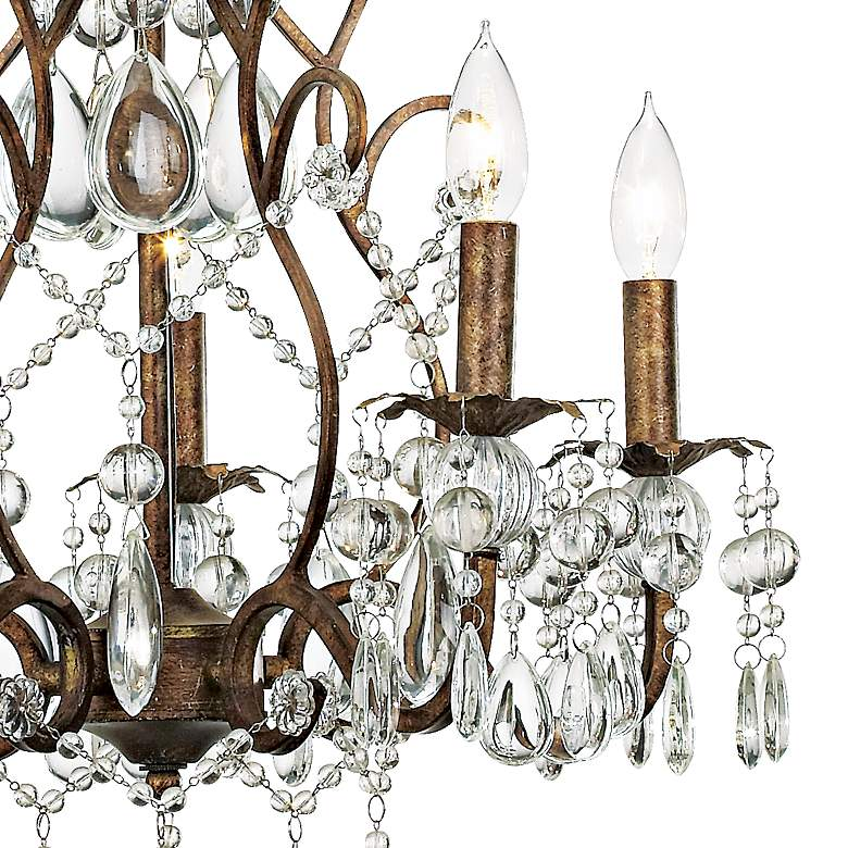 "Jolie Five Light 19 1/2"" Wide Crystal Beaded Chandelier more views"