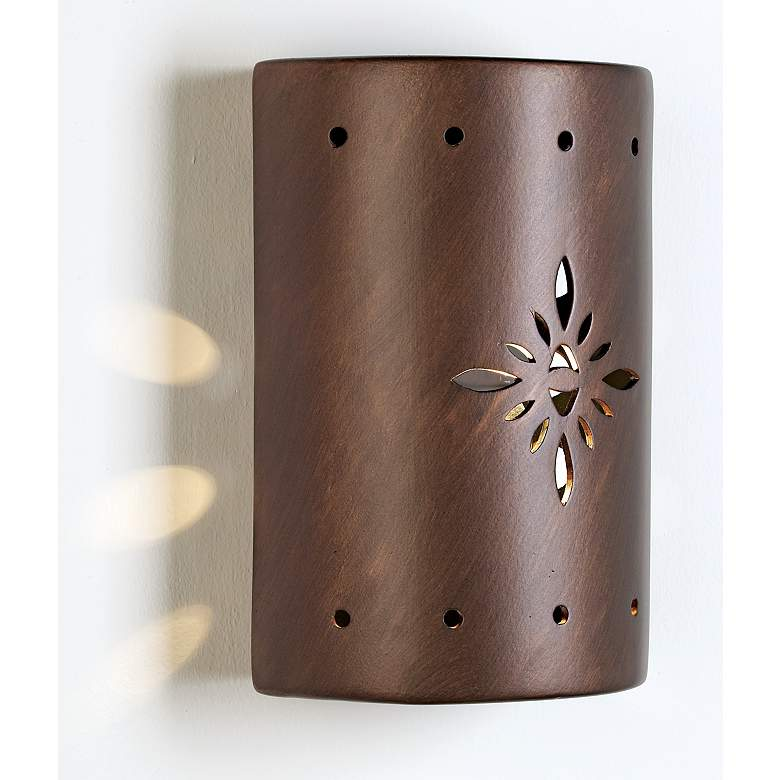 Ceramic Star Pattern Outdoor Wall Light more views
