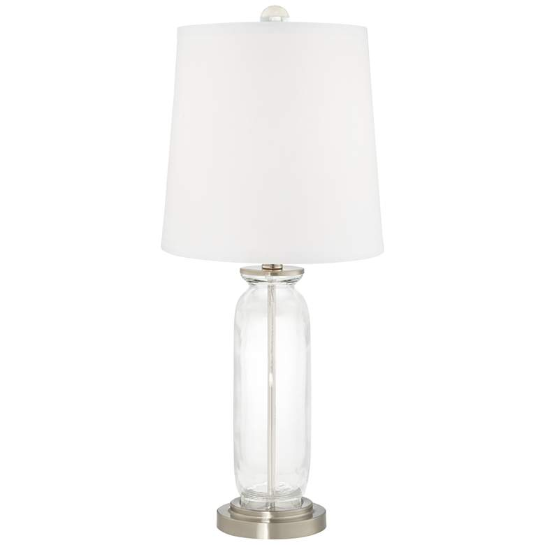 Clear Glass Fillable Carrie Table Lamp Set of 2 more views