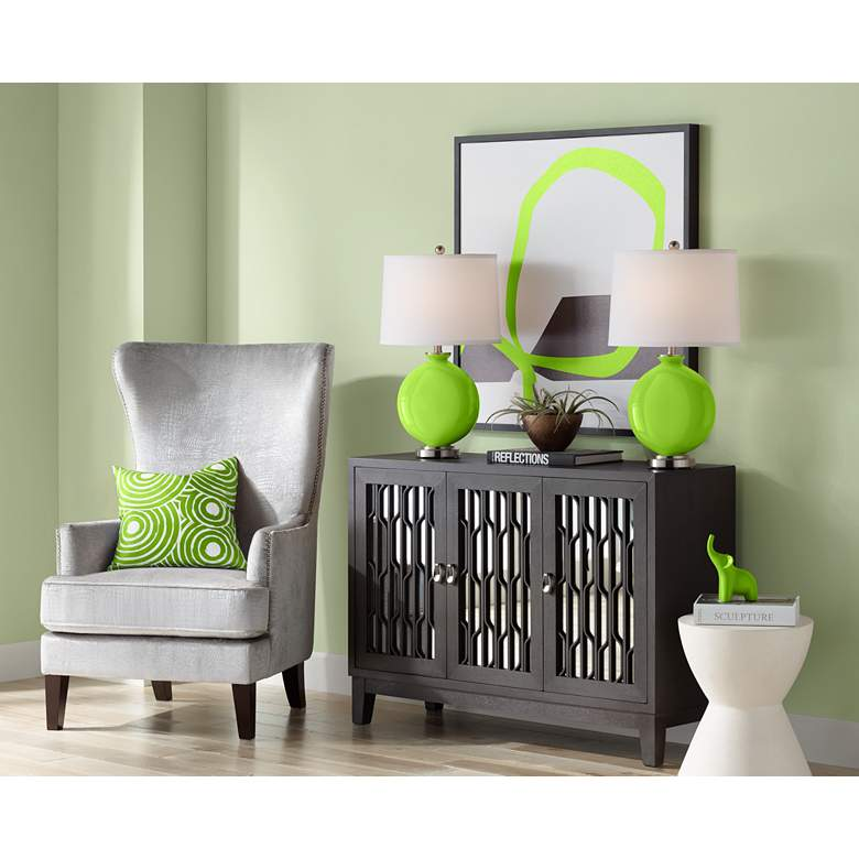 Neon Green Carrie Table Lamp Set of 2 more views
