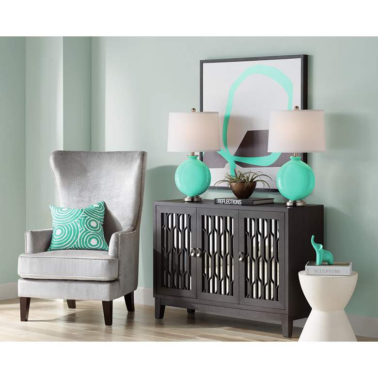 Turquoise Carrie Table Lamp Set of 2 more views