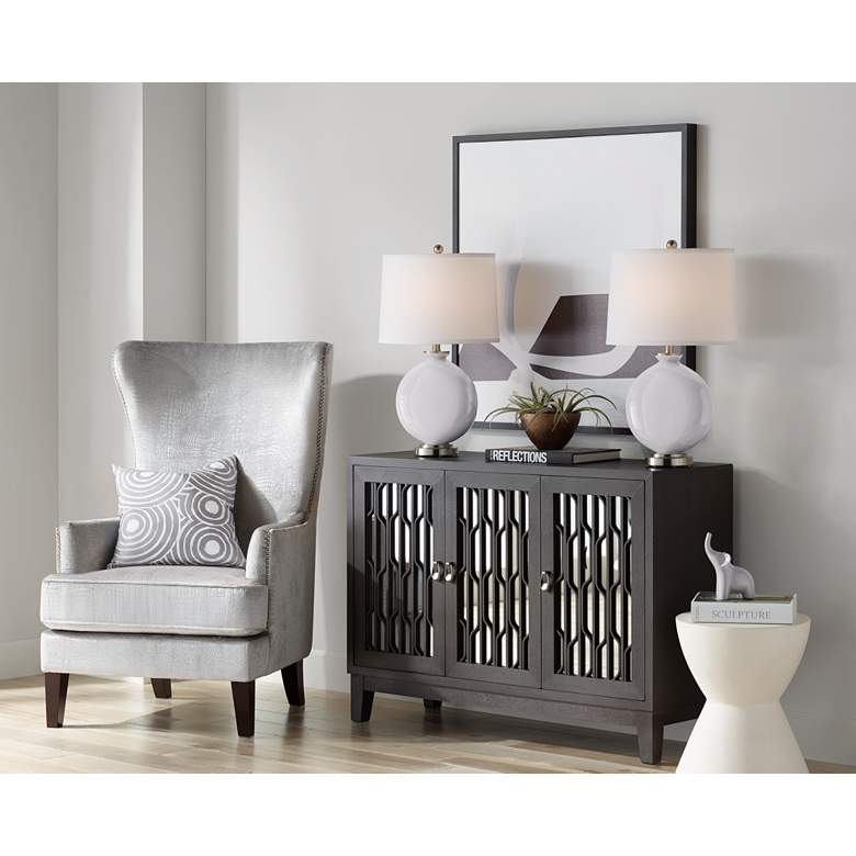 Swanky Gray Carrie Table Lamp Set of 2 more views