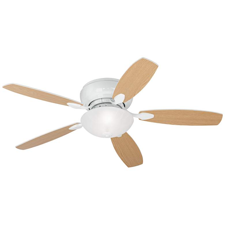 "52"" Casa Habitat™ White Hugger LED Ceiling Fan more views"