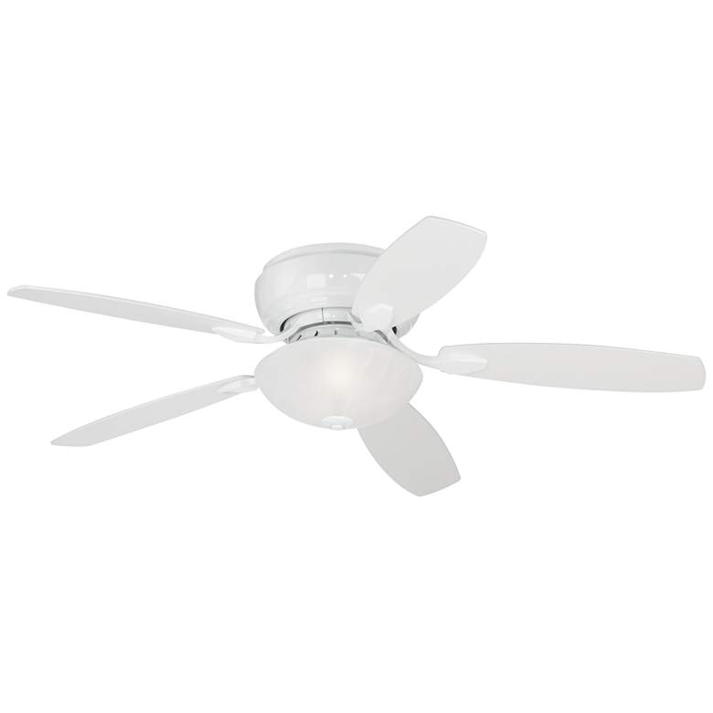 "52"" Casa Habitat White Hugger LED Ceiling Fan more views"