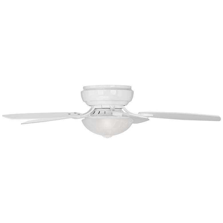 Casa Habitat™ White Hugger LED Ceiling Fan more views