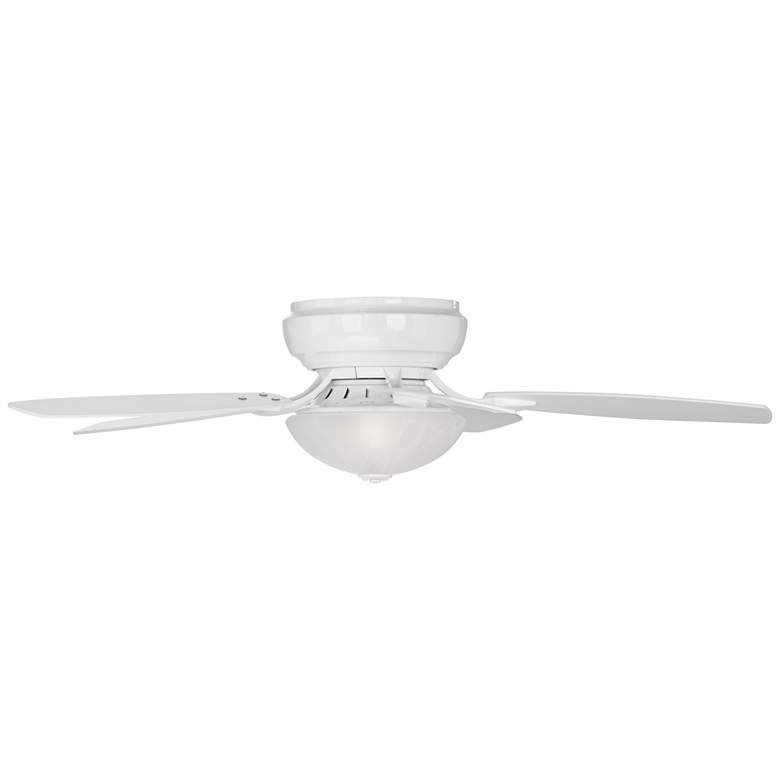 Casa Habitat™ White Hugger LED Ceiling Fan more views
