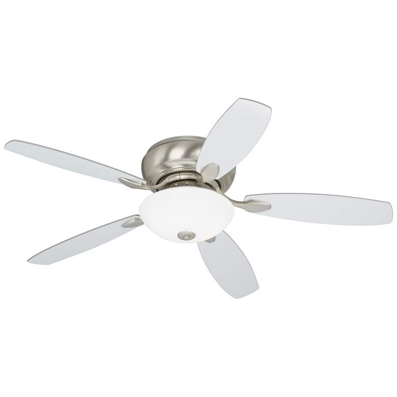 "52"" Casa Habitat™ Brushed Nickel Hugger LED Ceiling Fan more views"