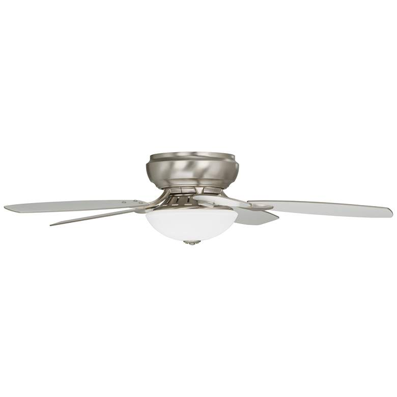 Casa Habitat™ Brushed Nickel Hugger LED Ceiling Fan more views