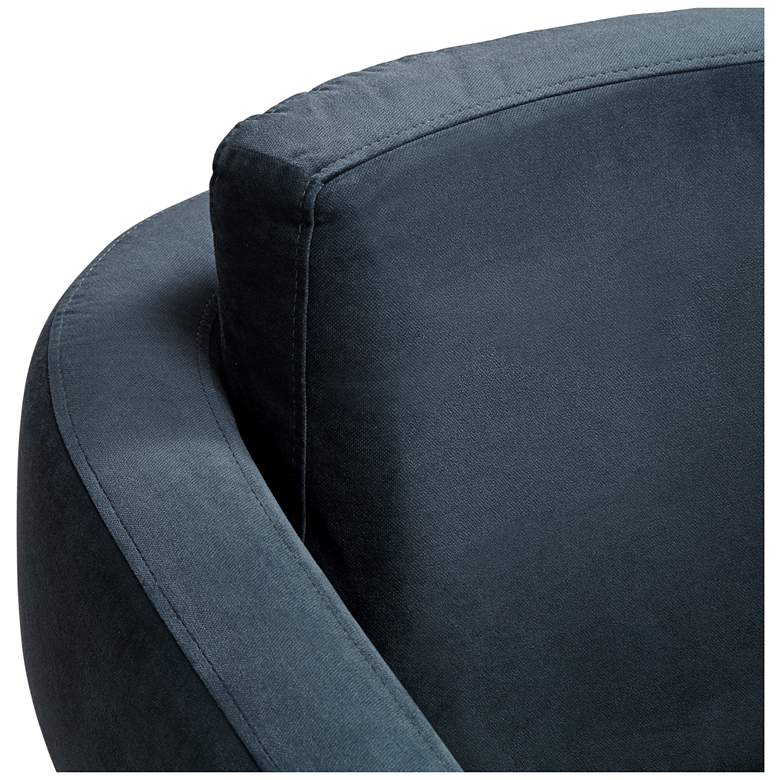 Turbo Slate Blue Open Arm Swivel Chair more views