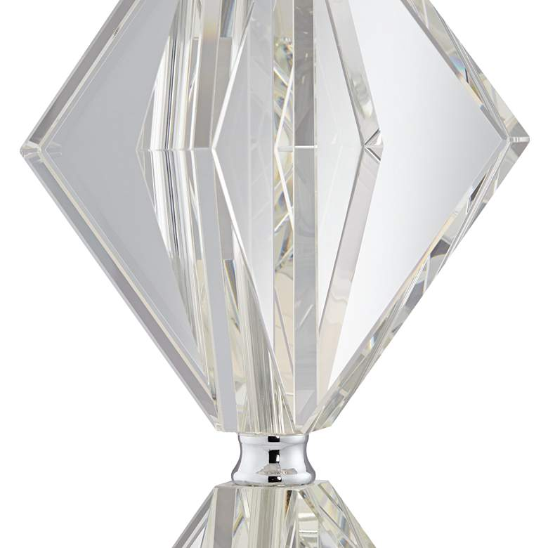 Eileen Crystal Table Lamp with Gray Shade more views