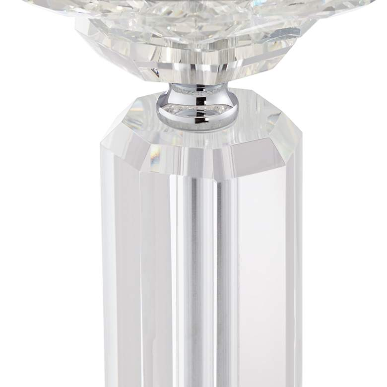Olivia Crystal Table Lamp with Gray Shade more views