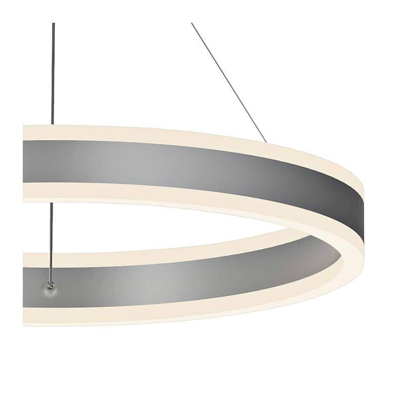 "Double Corona™ 23 3/4""W Aluminum 2-Light LED Pendant more views"