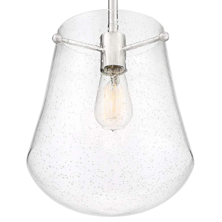 "Aurelien 10"" Wide Brushed Nickel Mini Pendant more views"