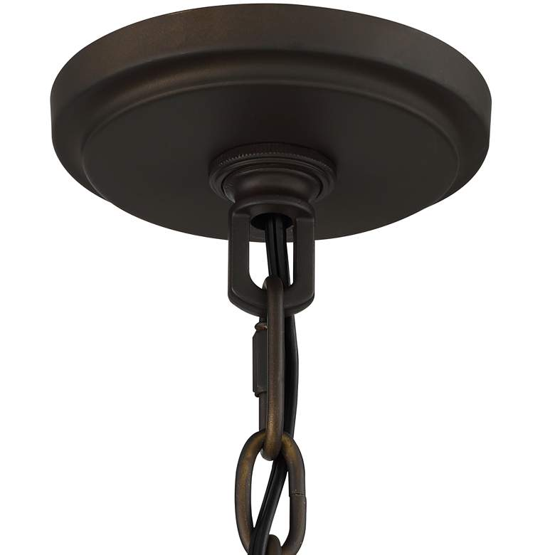 "Campanelli 19"" Wide Bronze and Brass Drum Pendant Light more views"