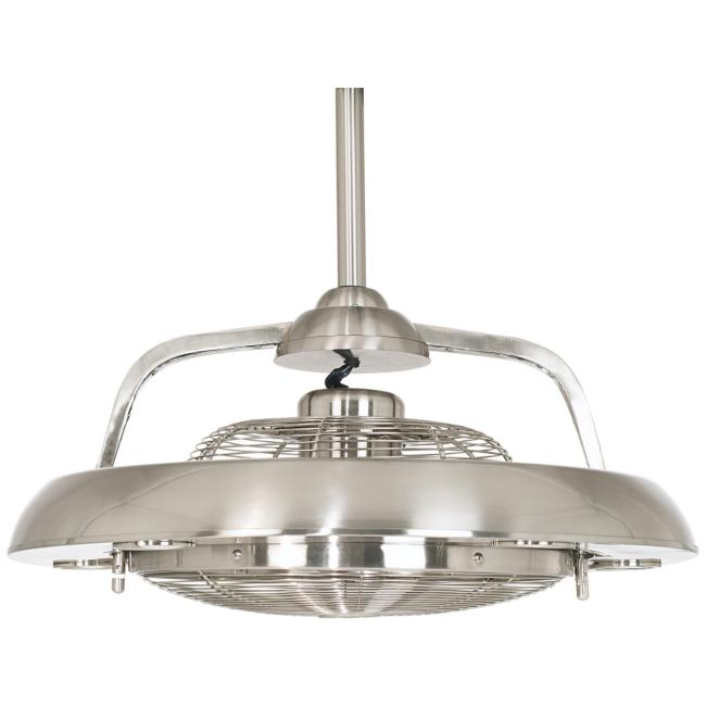 "Possini Euro Segue 24"" Wide Brushed Nickel LED Ceiling Fan"