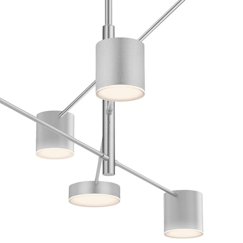 "Counterpoint 45""W Bright Satin Aluminum 6-Light LED Pendant more views"