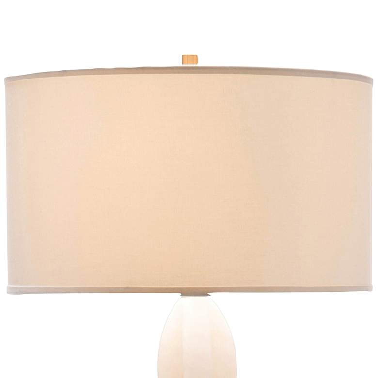 John Richard Criss-Cross Stacked White Alabaster Floor Lamp more views