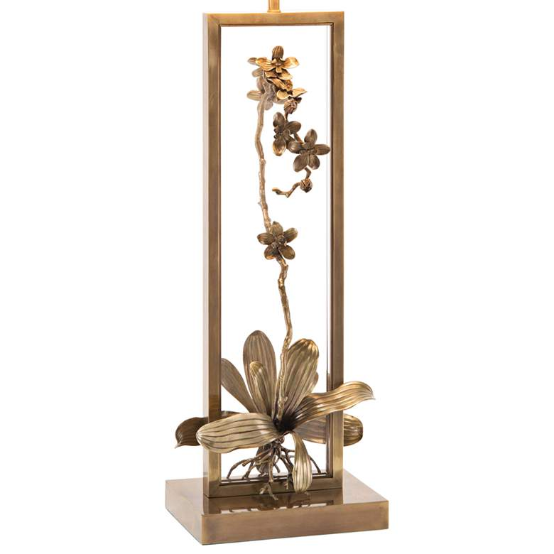 John Richard Blooming Pierced Orchid Bronze Table Lamp more views