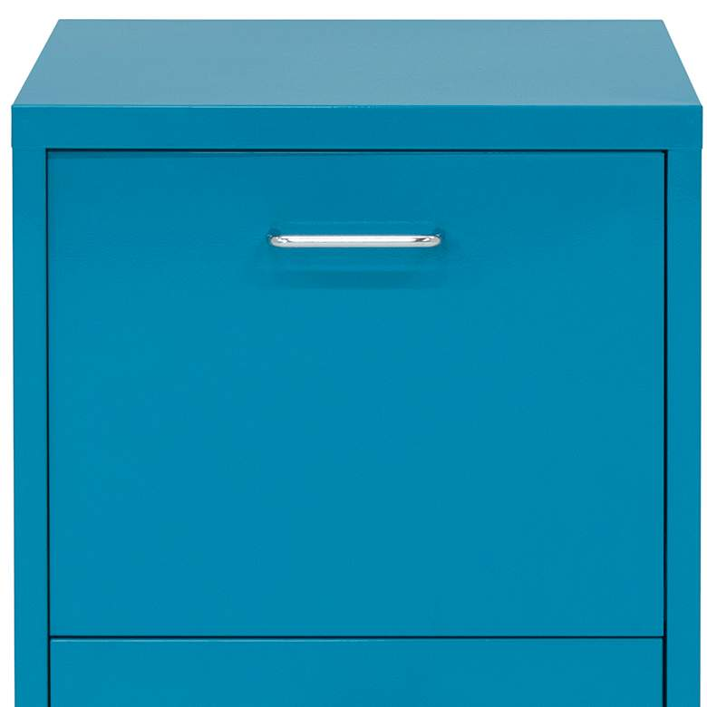 "Eastbourne 19 1/4"" Modern Teal Steel 2-Drawer File Cabinet more views"