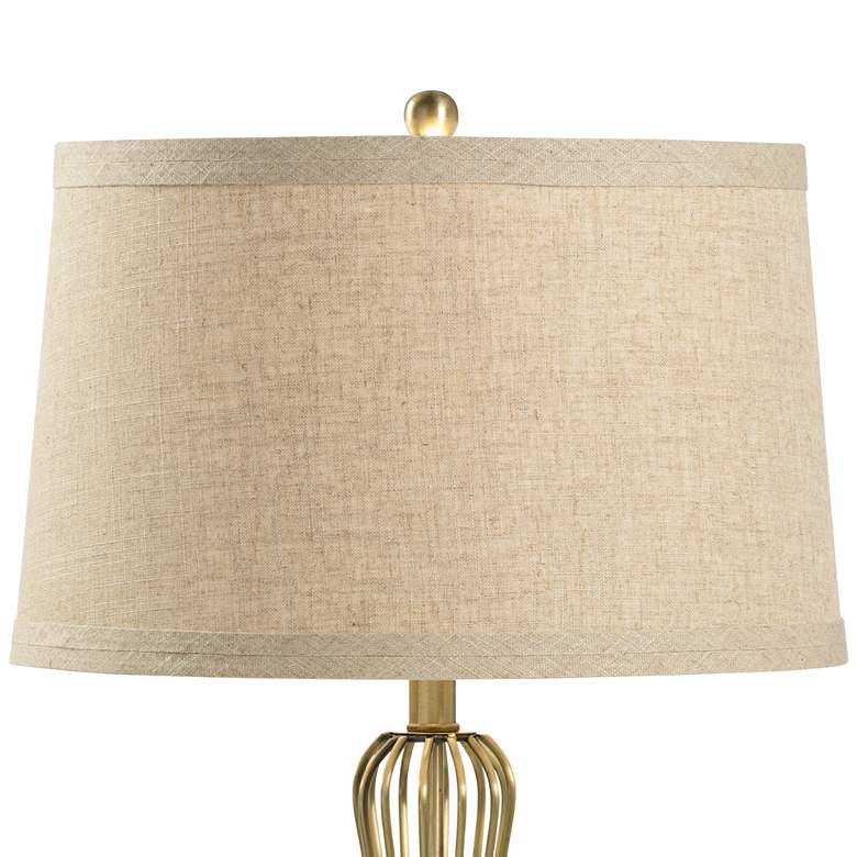 Wildwood Asher Antique Brass Metal Table Lamp with USB Port more views