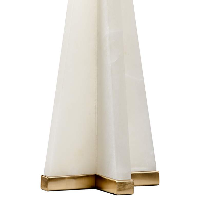 Wildwood Alabaster Pyramid Cream Table Lamp more views