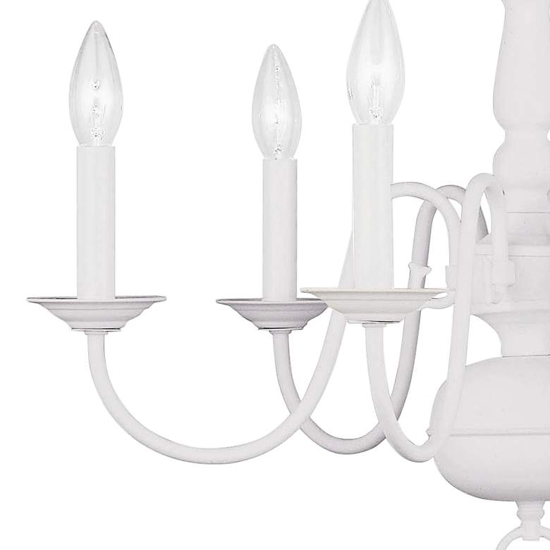 "Williamsburgh 24"" Wide White 6-Light Chandelier more views"