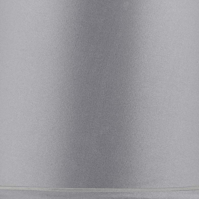 Sydnee Satin Light Gray Drum Lamp Shade 14x16x11 (Spider) more views