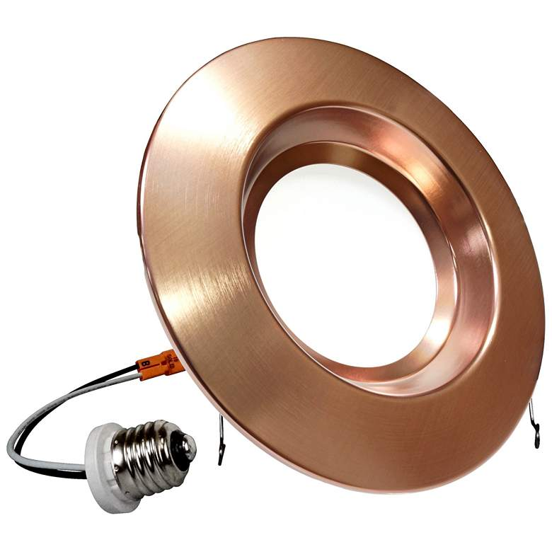 "Nicor DCR 5""/6"" Aged Copper 10.5W LED Retrofit more views"