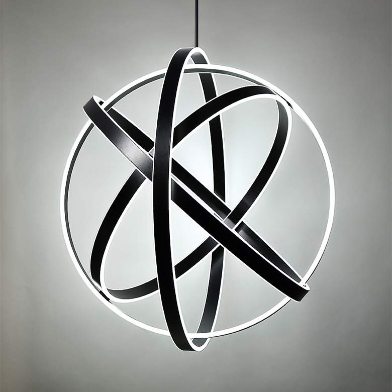 "Modern Forms Kinetic 38"" Wide Black 4-Light LED Pendant more views"