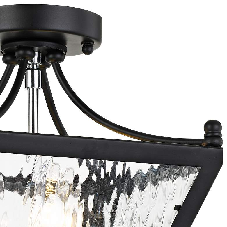 "Crystorama Park Hill 9"" Wide Water Glass Ceiling Light more views"