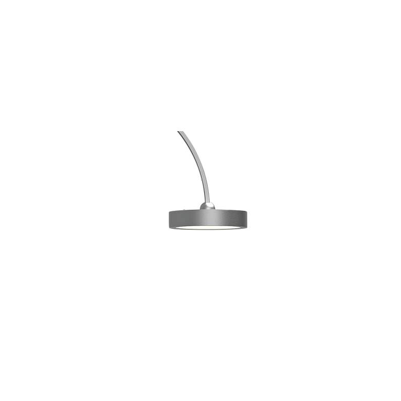 Pluck™ Satin Aluminum Small Adjustable LED Arc Floor Lamp more views