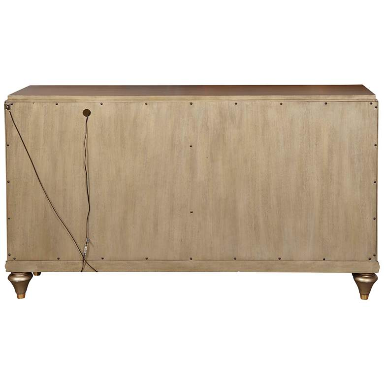 "Isabelle 60"" Wide Pierced Gold Leaf 4-Door Console more views"