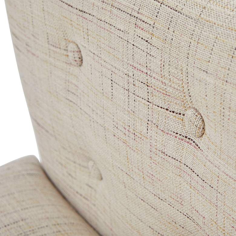 Milan Woven Cream Button Tufted Armchair more views