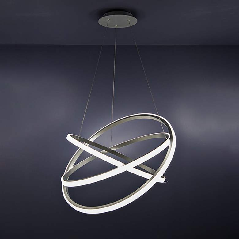 "Modern Forms Veloce 26"" Wide Titanium 3-Light LED Pendant more views"