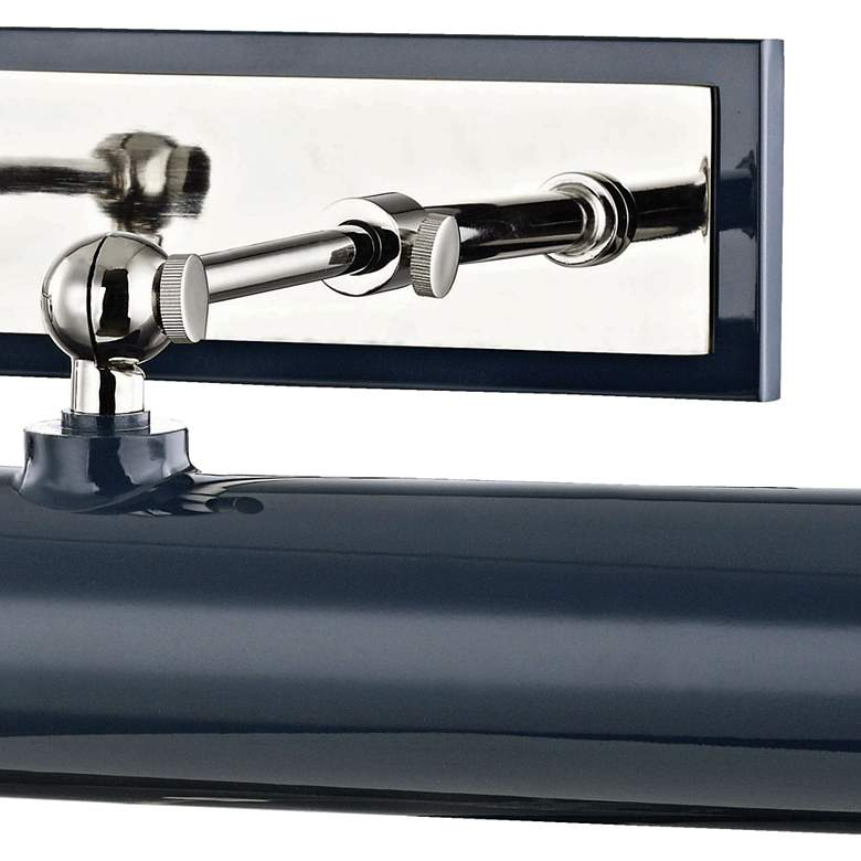 "Mitzi Holly 24 1/4""W Polished Nickel and Navy Picture Light more views"