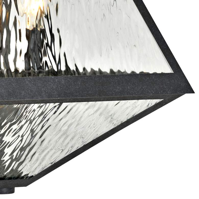 "Glacier 21"" High Matte Black Charcoal Outdoor Wall Light more views"